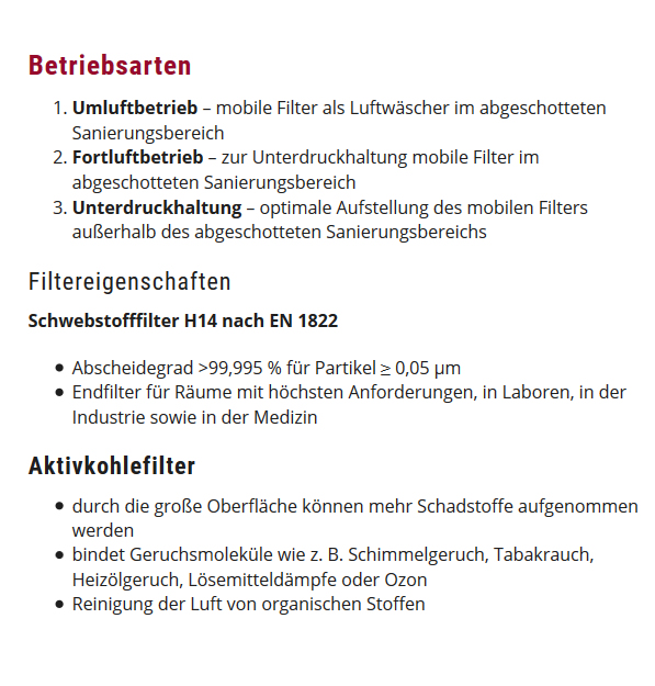 Bauluftfilter in 67591 Offstein
