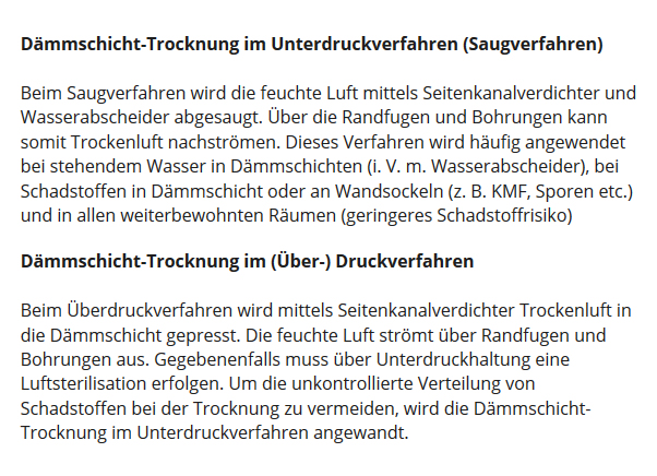 Estrich Dämmschicht Trocknung aus 67127 Rödersheim-Gronau
