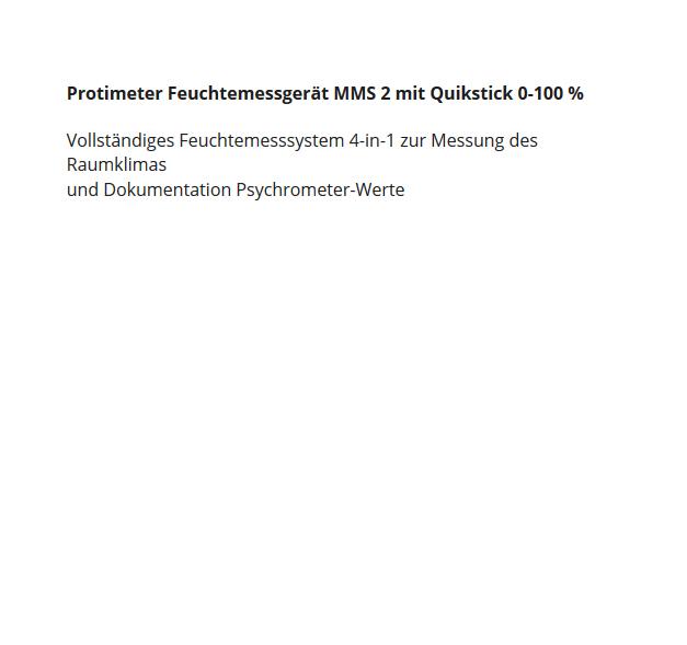 Feuchtemessgerät für  Rödersheim-Gronau