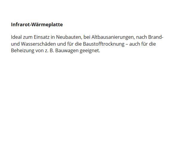 Infrarot-W#rmeplatte