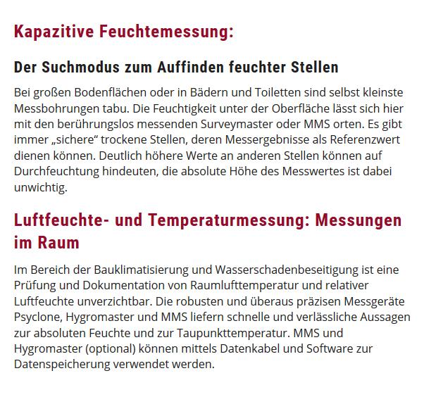 Luftfeuchte-Temperaturmessung in  Weisenheim (Sand)