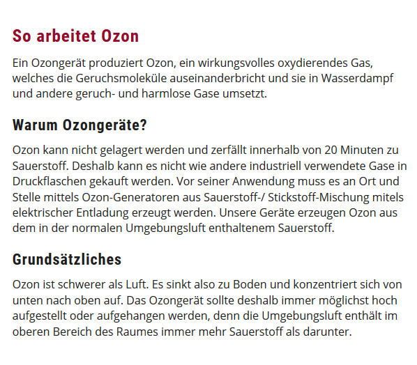 Ozongeräte