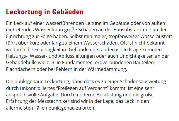 Wasserschaden in  Schwegenheim