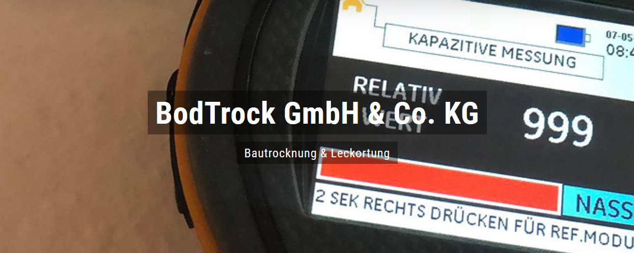 Bautrocknung für Ruppertsberg - Bodtrock: Wasserschaden, Trocknungsgeräte, Schimmelsanierung, Leckortung